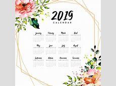 Jahreskalender 2019 mit Aquarell FloraL Download der