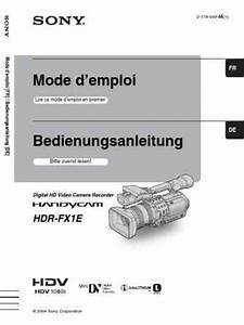 Sony Hdv1080i High Definition Handycam Download Manual For Free Now