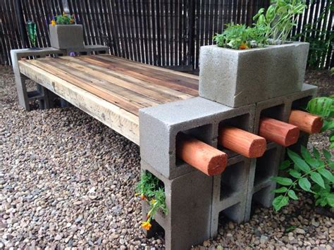 how to make a cinder block bench 5 ways to use cinder blocks in the garden the garden glove