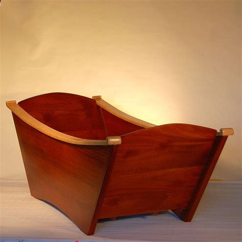 Hand Made Custom Designed Double Wooden Bathtub By Bath In