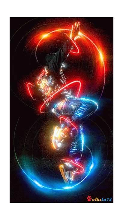 Dance Animated Gifs Fire Neon Screensavers Animation