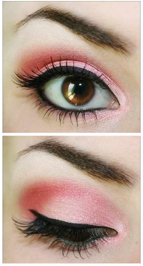 beautiful pink eye makeup    pretty designs