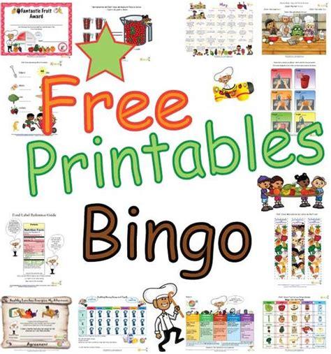 food group bingo cards  kids fun  healthy activity
