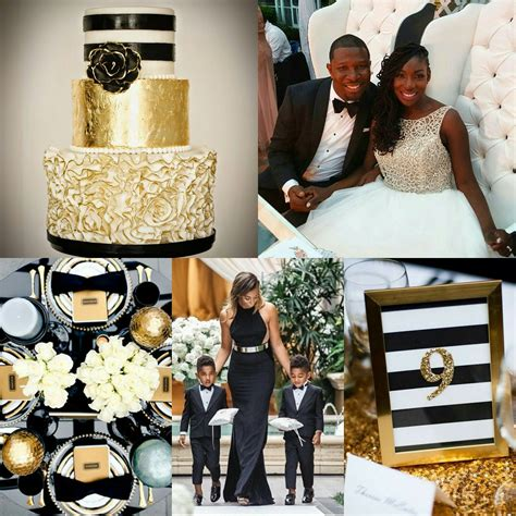 thinking of the elegant color palette for your wedding black white and gold is just a