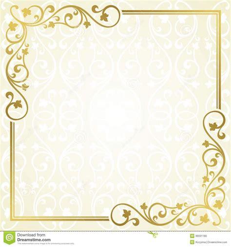 Invitation Template Card Design Ideas Soft Gold Colored Invitation