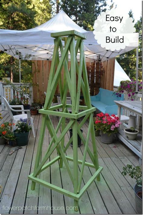 easy garden obelisk  flower patch farmhouse