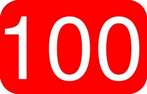 Red, Rounded, Rectangle With Number 100 Clip Art at Clker ...
