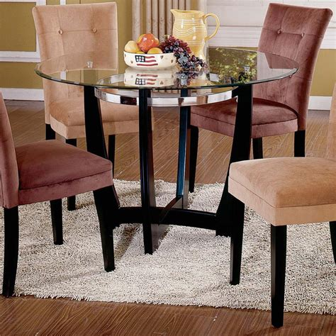 Steve Silver Matinee Glass Top Dining Table Furniture