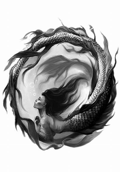 Tattoo Mermaid Siren Tattoos Drawings Drawing Sketch