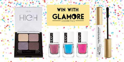 bid or buy shopping shop and win with glamore cosmetics