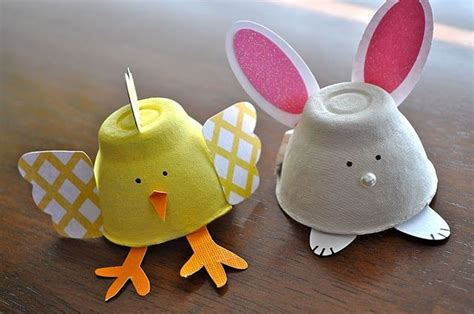 recylced egg carton easter craft simple girl scout daisy