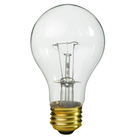 100 watt clear a19 light bulb 130 volt 10 000 hours pqb 81550