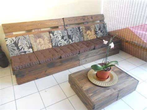 canapé palettes canapé table basse en palettes pallet sofa coffee