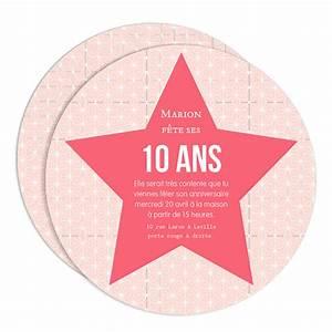 Invitation Anniversaire Fille 9 Ans : carte invitation anniversaire 10 ans fille cartes ~ Melissatoandfro.com Idées de Décoration