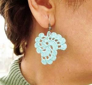 Tutorial Crochet Earrings Pattern  By Nezjewelry
