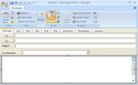 outlook form templates outlook custom forms and vb net using vbscript