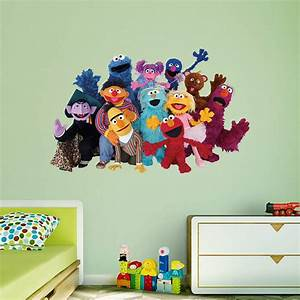 sesame street group wall decal shop fatheadr for sesame With decorate kids room with sesame street wall decals