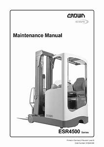 Crown Esr4500 Manual In 2020