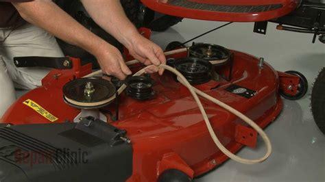mower deck  belt replacement craftsman riding lawn
