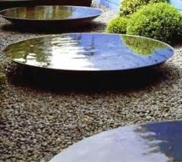 steel water bowl feature natural mirrors water features