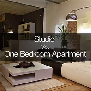 comparison between a studio and 1 bedroom apartment With single bedroom apartments a studio with functional purposes