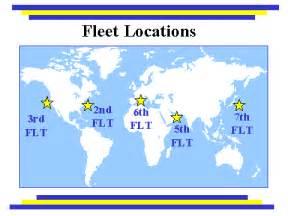 US Navy Fleet Map