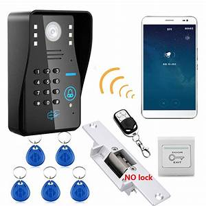 Wireless Wifi Rfid Password Video Door Phone Intercom