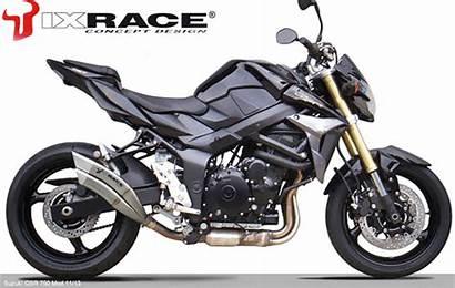 Exhaust Ixrace Suzuki Gsr750 Dual Motorcycle Exit
