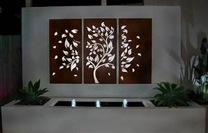 outdoor garden wall art With best brand of paint for kitchen cabinets with large metal fish wall art