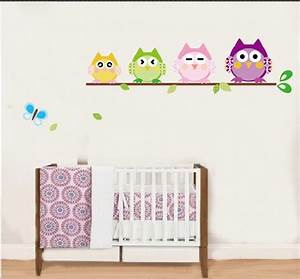 New Wholesale /Retail 4 Cute 4 Owls Scroll 3D Wall Decals ...