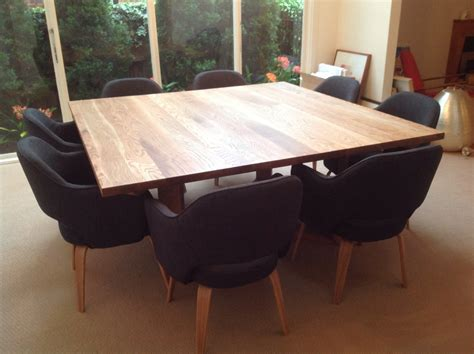 custom diy square dining room table seats 8 with black