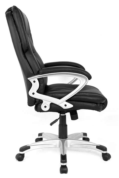 Modern High-Back Executive Leather Ergonomic Office Chair