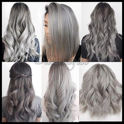 ash gray hair color grey ombre hair search hair grey