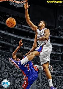 DeAndre Jordan over Brandon Knight. Love this picture. One ...