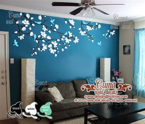 cherry blossom wall decals nursery white   wall