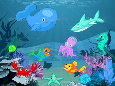 Cartoon Underwater Background Scene » Tinkytyler.org