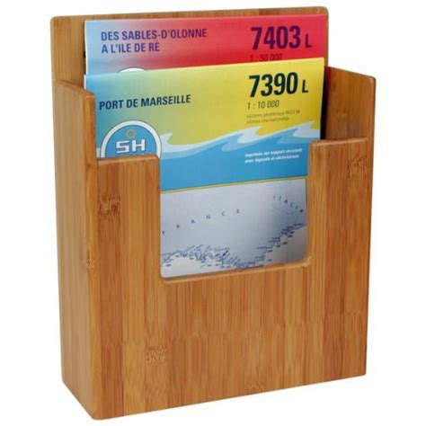 livre rangement carte support carte et livre bamboo bambou marine system