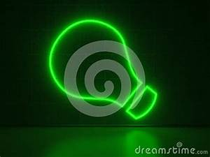 Light Bulb Series Neon Signs Stock s Image