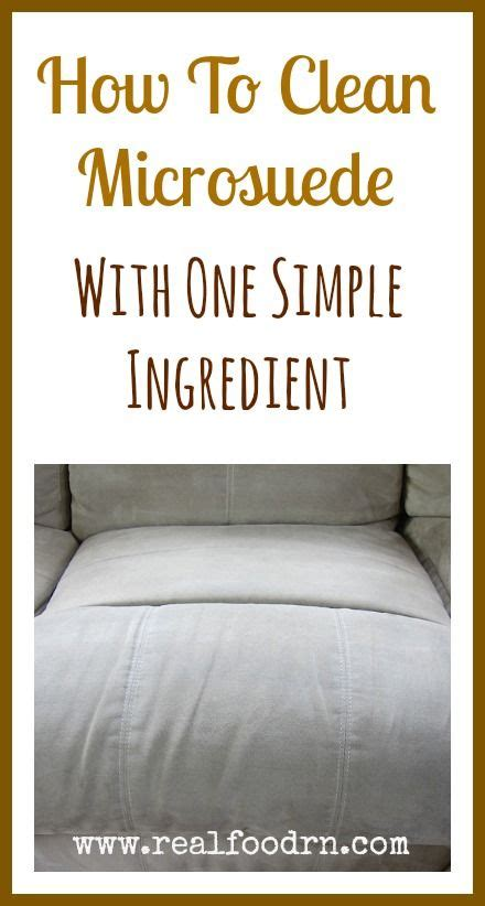 How To Clean Microsuede Sofa by How To Clean A Microsuede With One Simple Ingredient