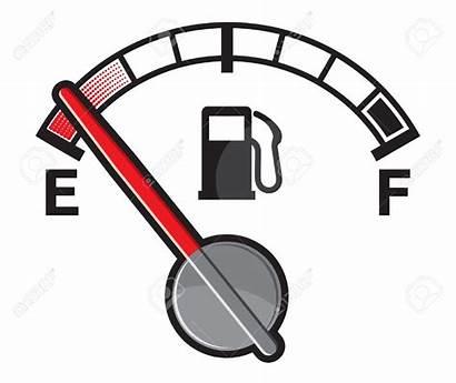 Fuel Gas Gauge Empty Clipart Tank Vector