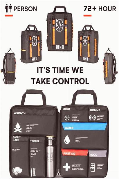 Emergency Supplies Survival Rugged Backpack Pinotom