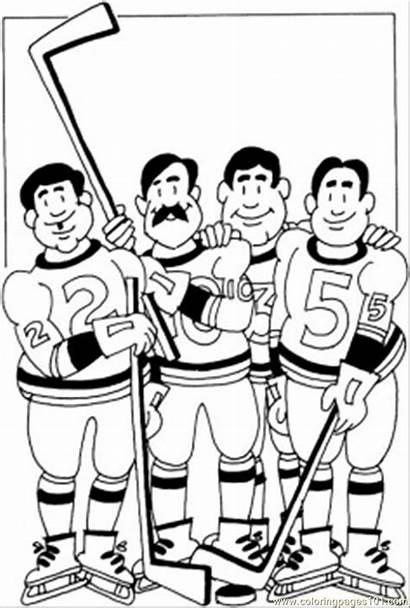 Coloring Sports Hockey Colorear Teams Dibujos Team