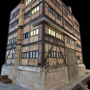 Abandoned Factory Building 149 3D Model .max .obj .3ds ...