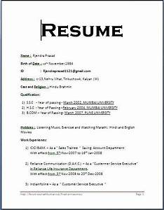 simple resume format ingyenoltoztetosjatekokcom With easy resume