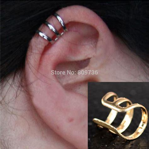 Ear Clip 2pcs New Rock Ear Clip Cuff Wrap Earrings No Piercing