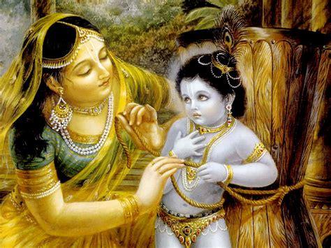 damodara lila mother yashoda binds lord krishna