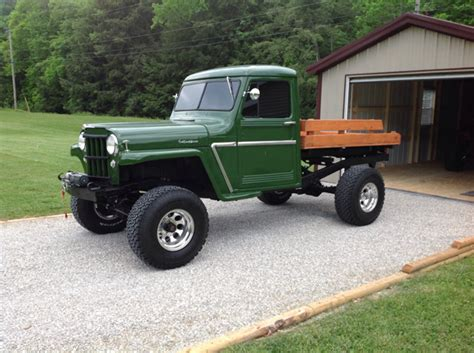 willys jeep truck green kaiser willys jeep of the week 175