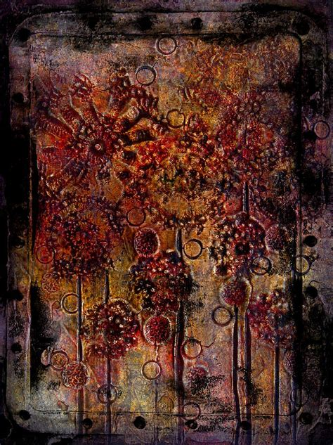 Abstract Flowers Textured Painting Painting By Laura Carter