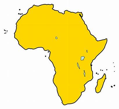 Continent Africa Svg African Aeroporti Clipart Map