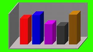 Animated 3d Bar Graph Different Colors Green Screen